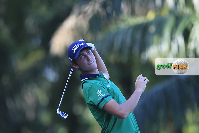 Renato Paratore (ITA) on the 5th tee during Round 4 of the Maybank Championship on Sunday 12th February 2017.<br /> Picture:  Thos Caffrey / Golffile<br /> <br /> All photo usage must carry mandatory copyright credit     (&copy; Golffile | Thos Caffrey)
