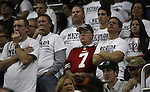San Francisco 49ers fans show their support for quarterback Colin Kaepernick during the NCAA men's basketball game between San Diego State and Nevada, on Wednesday, Jan. 23, 2013 in Reno, Nev. Kaepernick graduated from Nevada in 2011. (AP Photo/Cathleen Allison)