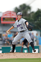 Winston-Salem Dash pitcher Lincoln Henzman (30) on the mound during a game against the Myrtle Beach Pelicans at Ticketreturn.com Field at Pelicans Ballpark on July 22, 2018 in Myrtle Beach, South Carolina. Winston-Salem defeated Myrtle Beach 7-2. (Robert Gurganus/Four Seam Images)
