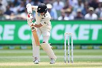 28th December 2019; Melbourne Cricket Ground, Melbourne, Victoria, Australia; International Test Cricket, Australia versus New Zealand, Test 2, Day 3; Mitchell Santner of New Zealand hits the ball