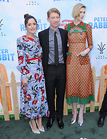 03 February 2018 - Los Angeles, California - Rose Byrne, Domhnall Gleeson, Elizabeth Debicki. &quot;Peter Rabbit&quot; Los Angeles Premiere held at The Grove. <br /> CAP/ADM/BT<br /> &copy;BT/ADM/Capital Pictures