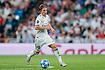 Luka Modric of Real Madrid in action during the UEFA Champions League 2018-19 match between Real Madrid and Roma at Estadio Santiago Bernabeu on September 19 2018 in Madrid, Spain. Photo by Diego Souto / Power Sport Images