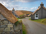 Isle of Lewis, Scotland:<br /> Garenin Blackhouse Village, a restored crofting village