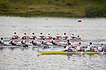 Rowing, United States Men's eight,  (foreground) Winning repechage and advancing to final, November 4, 2010, David Banks, Mark Murphy, Daniel Walsh, Brett Newlin, Jacob Cornelius, Charles Cole, Jason Read, Thomas Peszek, stroke, Edmund Del Guercio, cox,