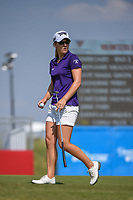 Austin Ernst (USA) after sinking her putt on 18 during the round 2 of the Volunteers of America Texas Classic, the Old American Golf Club, The Colony, Texas, USA. 10/4/2019.<br /> Picture: Golffile | Ken Murray<br /> <br /> <br /> All photo usage must carry mandatory copyright credit (© Golffile | Ken Murray)