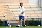 DURHAM, NC - SEPTEMBER 05: Duke head coach John Kerr. The Duke University Blue Devils hosted the Presbyterian College Blue Hose on September 5, 2017 at Koskinen Stadium in Durham, NC in a Division I college soccer game. The game ended in a 1-1 tie after two overtimes.