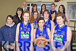 OWEN for details.SUCCESS: The Presentation Secondary School Milltown basketball team who ....front l-r: Fiona Quinn (PE teacher), Annie Sheahan, Sabrina Sheahan, Gráinne Devane. Middle l-r: Kerry Harkin Galvin, Annie Griffin, Sarah Griffin, Jennifer Fitzgerald. Back l-r: Cormac Bonner, Katie Hunt, Aoife Coffey, Aoife Stephens, Caitriona Dennehy.