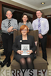 AWARD: On Friday last staff at the Brook Lane Hotel, Kenmare, were delighted to be awarded with a World Wide Trip Advisor Travellers' Choice award. Pictured are owner Una Brennan (seated) and back from left Pat Gath (manager), Siobhán O'Sullivan (reservations manager) and James Murphy (bar manager).