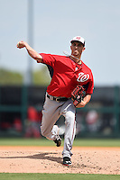 Washington Nationals pitcher A.J. Cole (69) during a Spring Training game against the Detroit Tigers on March 22, 2015 at Joker Marchant Stadium in Lakeland, Florida.  The game ended in a 7-7 tie.  (Mike Janes/Four Seam Images)