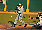 15 April 2008: Dartmouth College Big Green outfielder Nick Santomauro, a Sophomore from North Caldwell, NJ, in action against the University of Vermont Catamounts at Historic Centennial Field in Burlington, Vermont. The Catamounts rallied from a 7-3 deficit to win 8-7 over Dartmouth in a non-conference NCAA game...Mandatory Photo Credit: Ed Wolfstein Photo