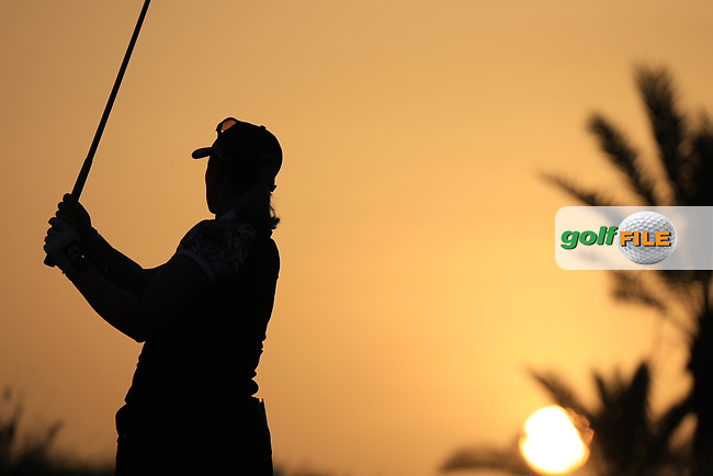 Holly Clyburn (ENG) during the first round of the Fatima Bint Mubarak Ladies Open played at Saadiyat Beach Golf Club, Abu Dhabi, UAE. 10/01/2019<br /> Picture: Golffile | Phil Inglis<br /> <br /> All photo usage must carry mandatory copyright credit (© Golffile | Phil Inglis)