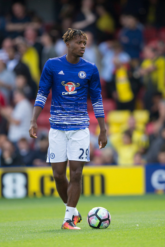 Chelsea's Nathaniel Chalobah during the pre-match warm-up <br /> <br /> Photographer Craig Mercer/CameraSport<br /> <br /> Football - The Premier League - Watford v Chelsea - Saturday 20 August 2016 - Vicarage Road - Watford<br /> <br /> World Copyright &copy; 2016 CameraSport. All rights reserved. 43 Linden Ave. Countesthorpe. Leicester. England. LE8 5PG - Tel: +44 (0) 116 277 4147 - admin@camerasport.com - www.camerasport.com