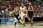 01 APRIL 2012:  Odyssey Sims (0) of Baylor University drives to the hoop against Stanford University during the Division I Women's Final Four semifinals at the Pepsi Center in Denver, CO.  Baylor defeated Stanford 59-47 to advance to the championship final.  Jamie Schwaberow/NCAA Photos