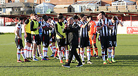 Grimsby Town manager Marcus Bignot and team post match<br /> during the Sky Bet League 2 match between Accrington Stanley and Grimsby Town at the Fraser Eagle Stadium, Accrington, England on 25 March 2017. Photo by Tony  KIPAX / PRiME Media Images.
