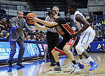 February 14, 2015 - Colorado Springs, Colorado, U.S. -  UNLV guard, Cody Doolin #45, works against Falcon, Trevor Lyons #20, during an NCAA basketball game between the UNLV Runnin' Rebels and the Air Force Academy Falcons at Clune Arena, U.S. Air Force Academy, Colorado Springs, Colorado.  Air Force defeats UNLV 76-75.