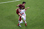 05 July 2006: Frank Ribery (FRA) (22) gets the worst of the challenge from Meira Fernando (POR) (5). France defeated Portugal 1-0 at the Allianz Arena in Munich, Germany in match 62, the second semifinal game, in the 2006 FIFA World Cup.