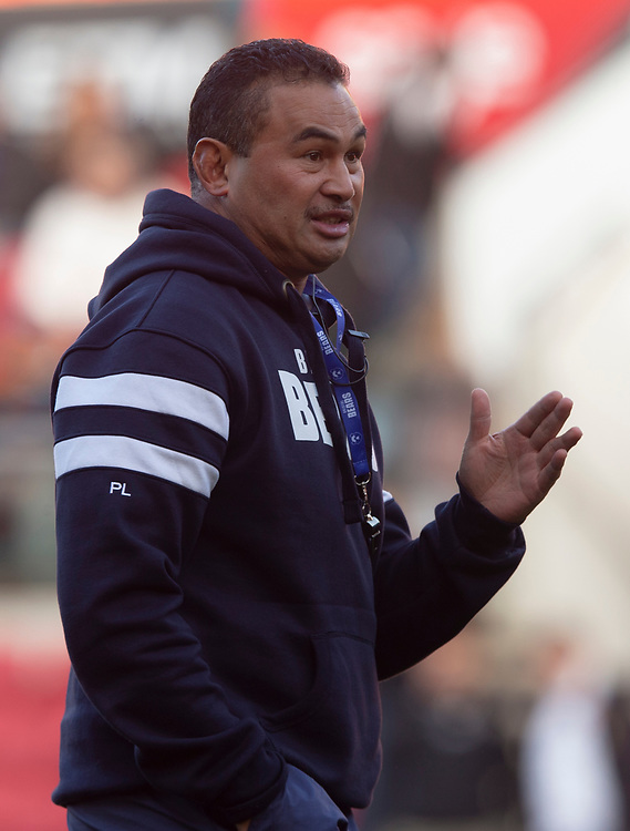 Bristol Bears' Head Coach Pat Lam<br /> <br /> Photographer Bob Bradford/CameraSport<br /> <br /> Gallagher Premiership Round 7 - Bristol Bears v Exeter Chiefs - Sunday 18th November 2018 - Ashton Gate - Bristol<br /> <br /> World Copyright © 2018 CameraSport. All rights reserved. 43 Linden Ave. Countesthorpe. Leicester. England. LE8 5PG - Tel: +44 (0) 116 277 4147 - admin@camerasport.com - www.camerasport.com