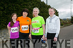 Aoife O' Sullivan, Loretta O'Sullivan, Susan O Donoghue and Isabelle O' Donoghue at the Kingdom Come 10 miler and 5k race at Castleisland on Sunday