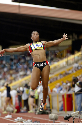 DONITA BENJAMIN, Women's Long Jump, Norwich Union Trials & AAA Championships, Alexander Stadium, Birmingham 020714 Photo:Glyn Kirk/Action Plus...2002 Athletics.Track and Field .woman jumping reach reaching.sequence.female.jumper