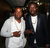 LOS ANGELES, CA - JUNE 23, 2016 Yo Gotti & Michael Blackson backstage at The Staples Center as part of the BET Experience, June 23, 2016 in Los Angeles, California. Photo Credit: Walik Goshorn / Media Punch