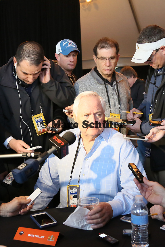 Defensive Coordinator Wade Phillips (Broncos) - Super Bowl 50 Denver Broncos PK, Marriott Santa Clara