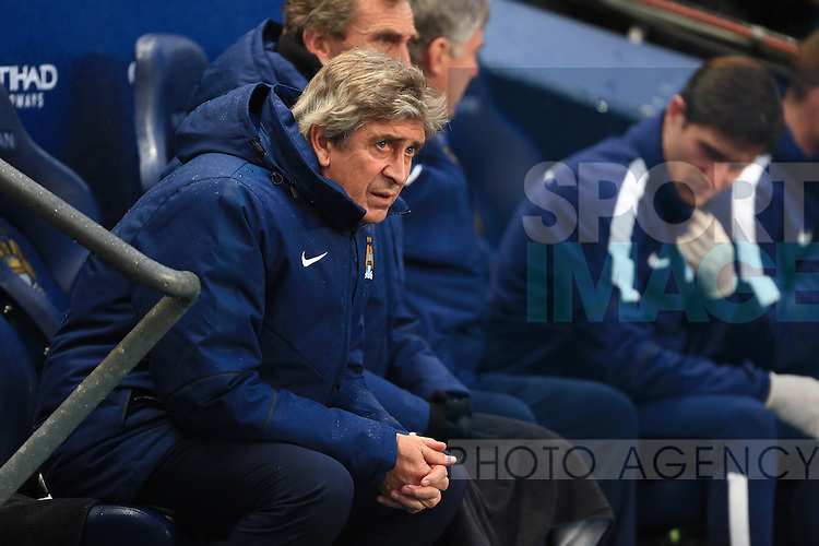 Manuel Pellegrini, manager of Manchester City - Manchester City vs. Sunderland - Barclay's Premier League - Etihad Stadium - Manchester - 28/12/2014 Pic Philip Oldham/Sportimage