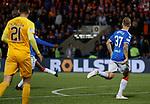 25.09.2018 Livingston v Rangers: Glen Kamara scores for Rangers