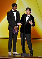 LOS ANGELES - SEPTEMBER 22: Nick Cannon and Ken Jeong speak onstage at the 71st Primetime Emmy Awards at the Microsoft Theatre on September 22, 2019 in Los Angeles, California. (Photo by Frank Micelotta/Fox/PictureGroup)