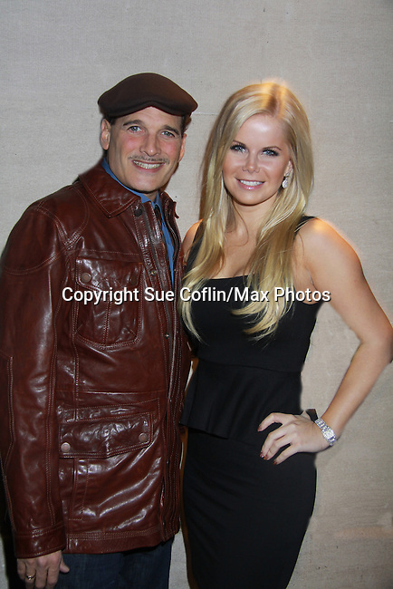 Fashion Designer Phillip Block & Crystal Hunt - Actors, crew, production, family come to One Life To Live's wrap party and video tribute on November 18, 2011 at Capitale, New York City, New York.  (Photo by Sue Coflin/Max Photos)