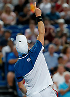 6th January 2020; RAC Arena, Perth, Western Australia; ATP Cup Australia, Perth, Day 4; Spain versus Uruguay; Pablo Cuevas of Uruguay reacts to winning a point against Rafael Nadal of Spain - Editorial Use