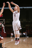 STANFORD, CA - NOVEMBER 1:  Lindy La Rocque of the Stanford Cardinal during Stanford's 123-39 exhibition win against Chico State on November 1, 2008 at Maples Pavilion in Stanford, California.