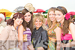 STYLISH: Castleisland ladies pictured at the Killarney Races ladies day on Thursday were l-r: Martina Brosnan, Catherine O'Shea, Lisa Horgan, Katie and Anita Nolan.