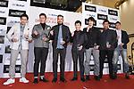 (L-R) Shinsuke Yamanaka, Hideto Tanihara, Shigeaki Shito, Takuma Sato, Yusuke Okada, Toshiaki Imae, Masahiko Inoha, JANUARY 22, 2015 : Athlete Dresser Award 2015 at Hankyu MEN'S TOKYO in Tokyo, Japan. (Photo by Sho Tamura/AFLO SPORT) [1180]