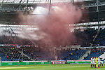 09.02.2019, HDI Arena, Hannover, GER, 1.FBL, Hannover 96 vs 1. FC Nuernberg<br /> <br /> DFL REGULATIONS PROHIBIT ANY USE OF PHOTOGRAPHS AS IMAGE SEQUENCES AND/OR QUASI-VIDEO.<br /> <br /> im Bild / picture shows<br /> Fans von 1. FC N&uuml;rnberg z&uuml;ndeln zu Beginn der Partie Rauchbomben im G&auml;stefanblock, Rauch zieht &uuml;ber Spielfeld, <br /> <br /> Foto &copy; nordphoto / Ewert