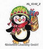 CHRISTMAS ANIMALS, WEIHNACHTEN TIERE, NAVIDAD ANIMALES, paintings+++++,KL6142/2,#xa# ,sticker,stickers