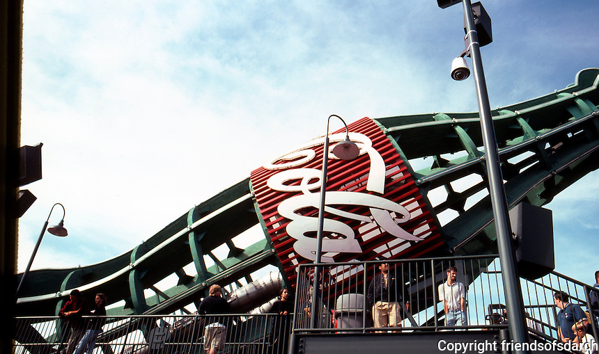 Ballparks: San Francisco Pacific Bell Park. The Coke bottle from below.