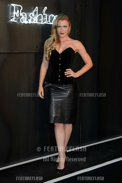 Camilla Kerslake arrives for the Amazon Fashion Photography Studio Launch Party in London.<br /> July 23, 2015<br /> Picture: Dave Norton/ Featureflash