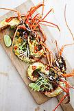 BERMUDA. Hamilton. Hamilton Princess & Beach Club Hotel. Marcus' Restaurant. Chef Marcus Samuelsson's Guinea Chick Lobster Dish.