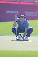 Sergio Garcia (Team Europe) on the 4th green during the Friday afternoon Fourball at the Ryder Cup, Hazeltine national Golf Club, Chaska, Minnesota, USA.  30/09/2016<br /> Picture: Golffile | Fran Caffrey<br /> <br /> <br /> All photo usage must carry mandatory copyright credit (&copy; Golffile | Fran Caffrey)