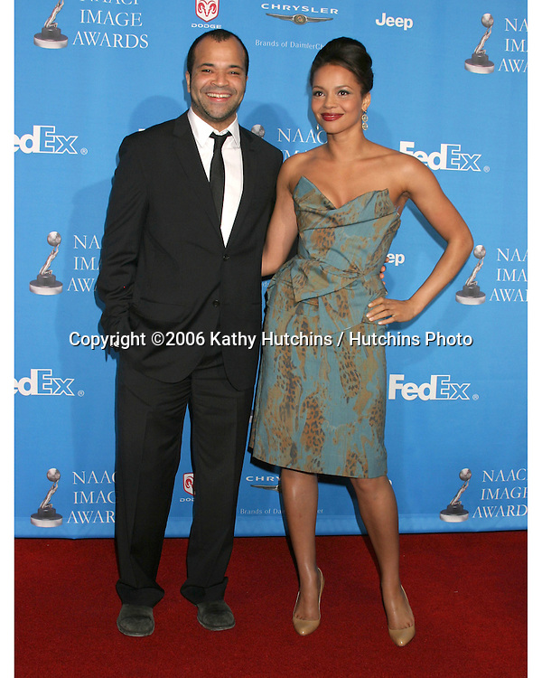 Jeffrey Wright and guest.37th NAACP Image Awards.Shrine Auditorium.Los Angeles, CA.February 25, 2006.©2006 Kathy Hutchins / Hutchins Photo....                 V