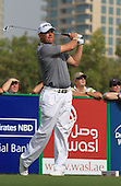 Lee Westwood (ENG)  in action during the first round of the 2013 Omega Dubai Desert Classic being played over the Majlis Golf Course, Emirates Golf Course from 31st January to 3rd February 2013: Picture Stuart Adams www.golftourimages.com:  31st January 2013