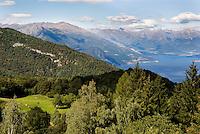 Lago di Como, Veduta verso nord dalle montagne del Triangolo Lariano --- Lake Como, view from the mountains of Larian Triangle towards north