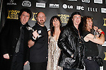 Director Sacha Gervasi, musician Glenn Five, producer Rebecca Yeldham, musicians Robb Reiner and Steve 'Lips' Kudlow, winners Best Documentary for 'Anvil! The Story of Anvil,' pose in the press room at the 25th Independent Spirit Awards held at the Nokia Theater in Los Angeles on March 5, 2010. The Independent Spirit Awards is a celebration honoring films made by filmmakers who embody independence and originality..Photo by Nina Prommer/Milestone Photo