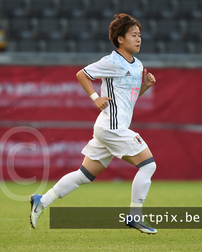 20170613 - LEUVEN ,  BELGIUM : Japanese Yuka Momiki pictured during the female soccer game between the Belgian Red Flames and Japan , a friendly game before the European Championship in The Netherlands 2017  , Tuesday 13 th Juin 2017 at Stadion Den Dreef  in Leuven , Belgium. PHOTO SPORTPIX.BE | DIRK VUYLSTEKE