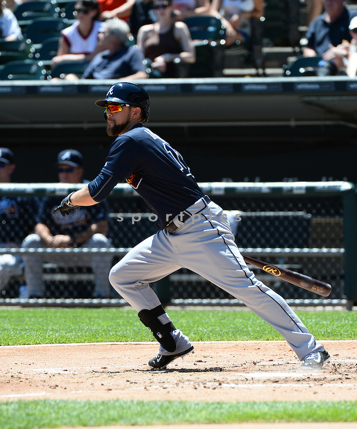 Atlanta Braves Ender Inciarte (11) during a game against the Chicago White Sox on July 9, 2016 at US Cellular Field in Chicago, IL. The White Sox beat the Braves 5-4.
