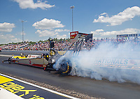 Jun 6, 2016; Epping , NH, USA; NHRA top fuel driver Todd Paton during the New England Nationals at New England Dragway. Mandatory Credit: Mark J. Rebilas-USA TODAY Sports