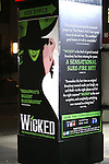 Theatre Marquee  during the 10th Anniversary on Broadway Curtain Call for 'Wicked'  at the Gershwin Theatre on October 30, 2013  in New York City.
