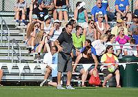 Kansas City, MO - Saturday June 25, 2016:  Vlatko Andonovski during a regular season National Women's Soccer League (NWSL) match at Swope Soccer Village.