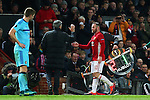 Manchester United manager Jose Mourinho shakes hands with Wayne Rooney after being substituted during the UEFA Europa League match at Old Trafford, Manchester. Picture date: November 24th 2016. Pic Matt McNulty/Sportimage