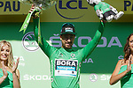 Peter Sagan (SVK) Bora-Hansgrohe retains the points Green Jersey at the end of Stage 13 of the 2019 Tour de France an individual time trial running 27.2km from Pau to Pau, France. 19th July 2019.<br /> Picture: Colin Flockton | Cyclefile<br /> All photos usage must carry mandatory copyright credit (© Cyclefile | Colin Flockton)